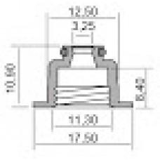 Гумички за клапани за APRILIA, PIAGGIO 3,25X11,3X17,5-8,4 100669200